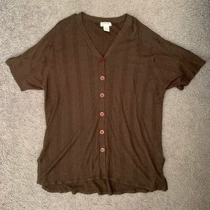 Brown Avenue collection top size 3x